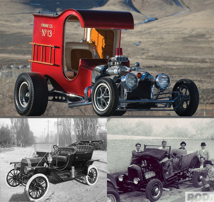 Photos of some early hot rod cars