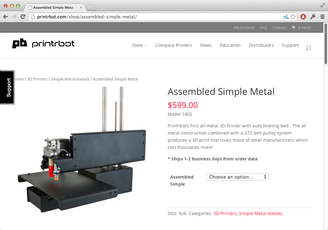 Printrbot Simple Metal