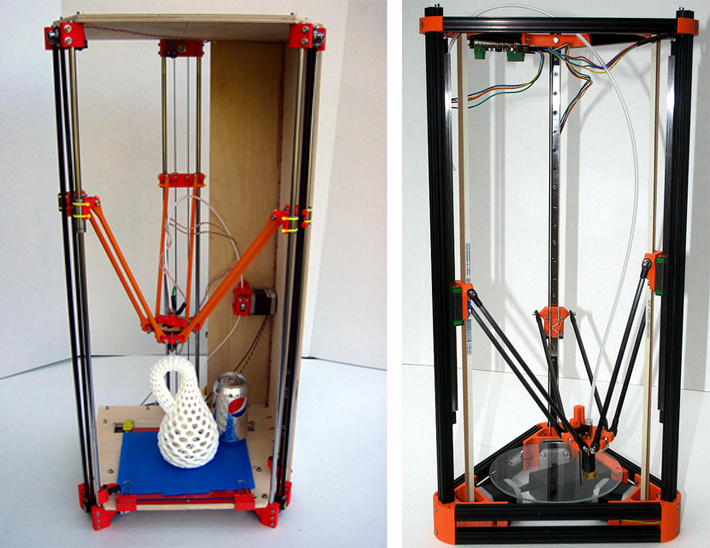 RepRap Rostock and Kossel Mini designs